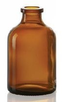 Bild von 100 ml injection vial, amber, type 3 moulded glass