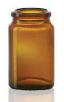 Bild von 11.5 ml tablet jar, amber, type 3 moulded glass