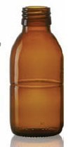 Bild von 125 ml syrup bottle, amber, type 3 moulded glass