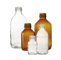 Bild von 125 ml syrup bottle, clear, type 3 moulded glass