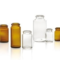 Bild von 15 ml tablet jar, amber, type 3 moulded glass