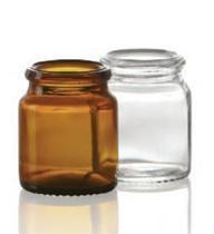 Bild von 18 ml tablet jar, amber, type 3 moulded glass