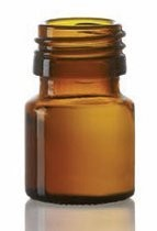 Bild von 20 ml dropper bottle, amber, type 3 moulded glass