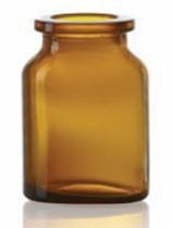 Bild von 30 ml injection vial, amber, type 3 moulded glass