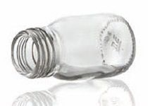 Bild von 30 ml syrup bottle, clear, type 3 moulded glass