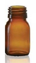 Bild von 45 ml syrup bottle, amber, type 3 moulded glass