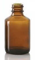 Bild von 50/70 ml diagnostic bottle, amber, type 1 moulded glass