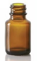 Bild von 10/15 ml diagnostic bottle, amber, type 1 moulded glass