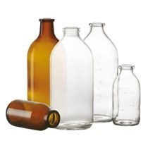 Bild von 500 ml infusion bottle, clear, type 1 moulded glass