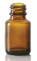 Bild von 6/8 ml diagnostic bottle, amber, type 1 moulded glass