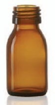 Bild von 60 ml syrup bottle, amber, type 3 moulded glass
